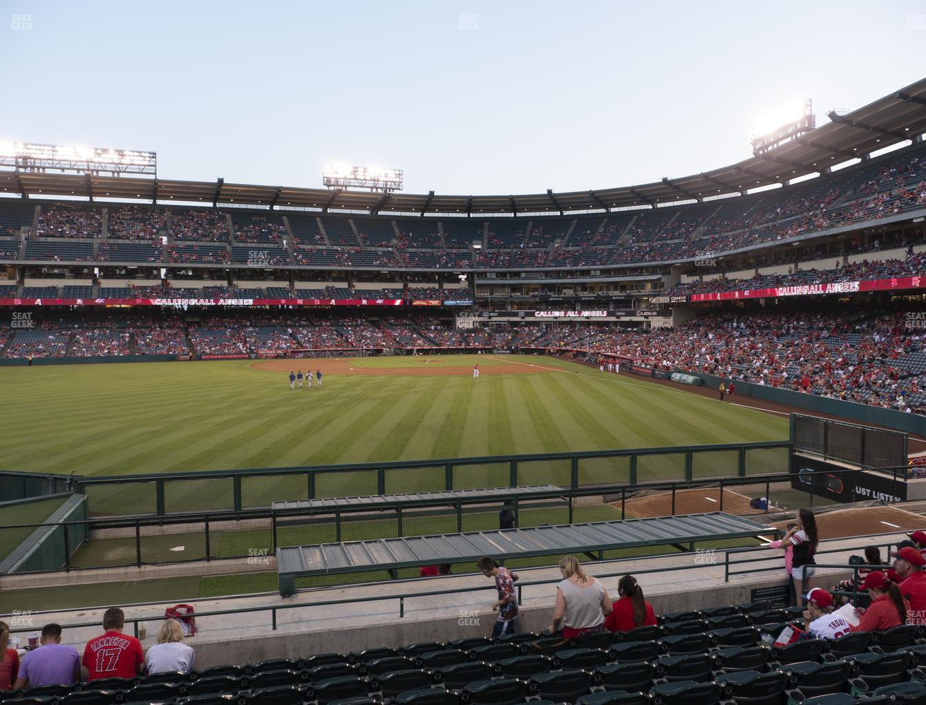 Los Angeles Angels at Angel Stadium of Anaheim Section 258 View