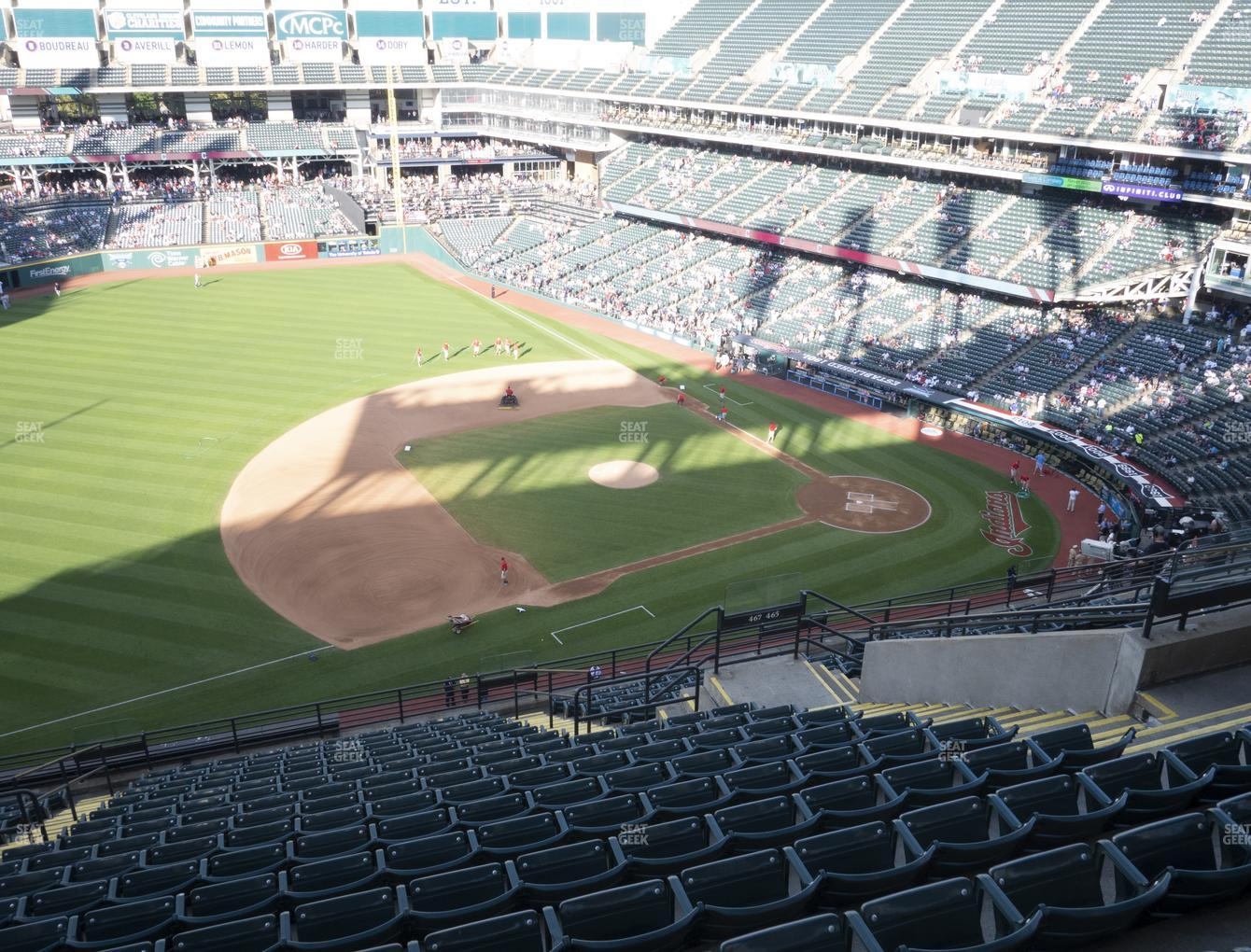 Cleveland Indians at Progressive Field Section 567 View
