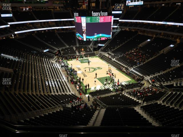 Fiserv Forum Section 217 view