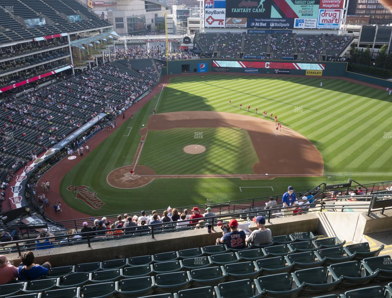 Cleveland Indians at Progressive Field Section 548 View