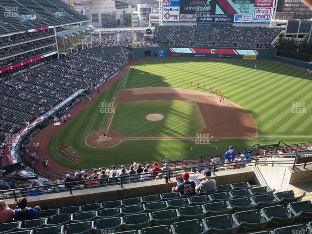 Progressive Field Section 548 view