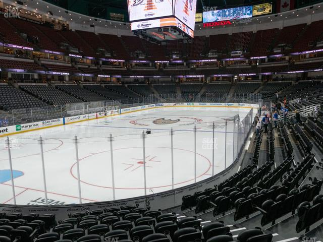 Honda Center Section 213 view