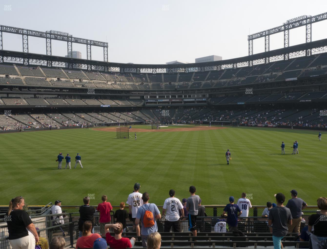 Colorado Rockies at Coors Field Section 160 View