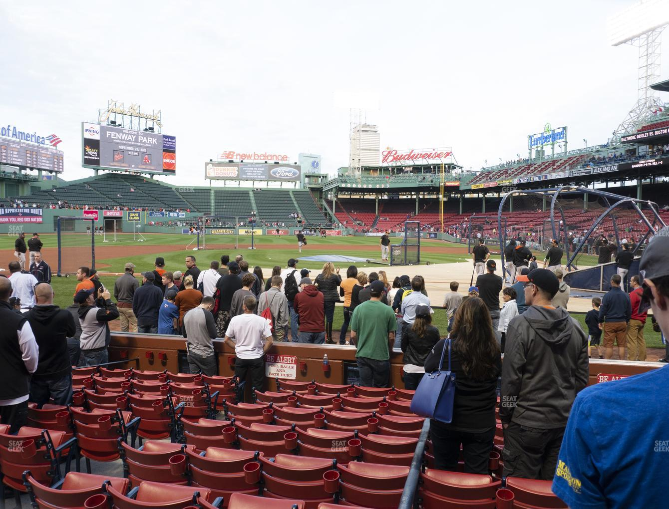 Boston Red Sox at Fenway Park Field Box 55 View