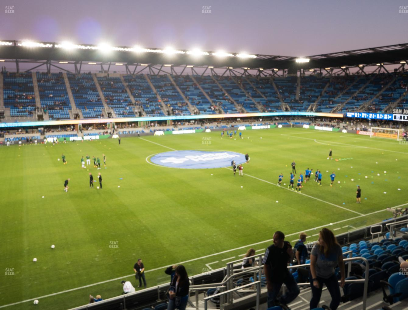 San Jose Earthquakes at Avaya Stadium Section 103 View