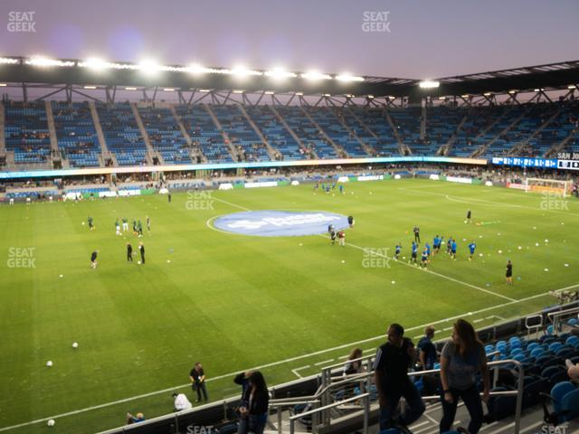Earthquakes Stadium Section 103 view