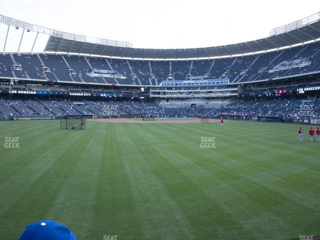 Kauffman Stadium Section 102 view