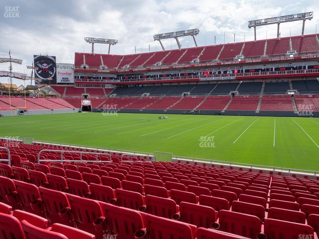 Raymond James Stadium Section 113 view