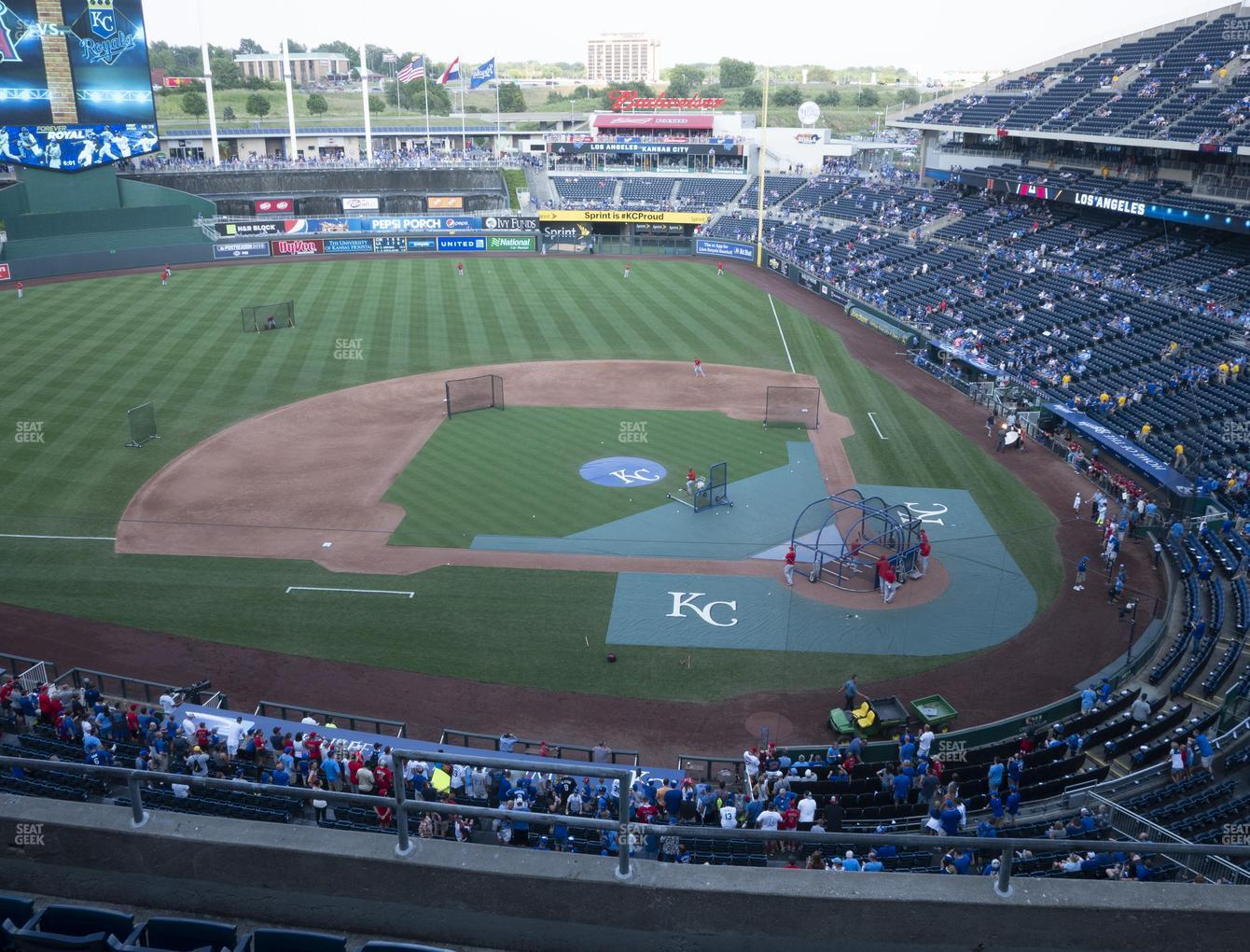 Kansas City Royals at Kauffman Stadium Section 413 View
