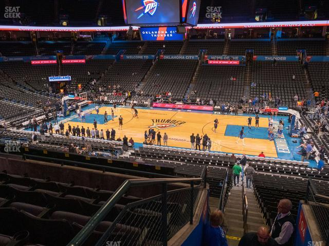 Chesapeake Energy Arena Section 207 view