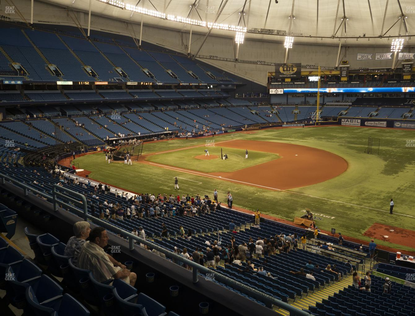 Tampa Bay Rays at Tropicana Field Section 218 View