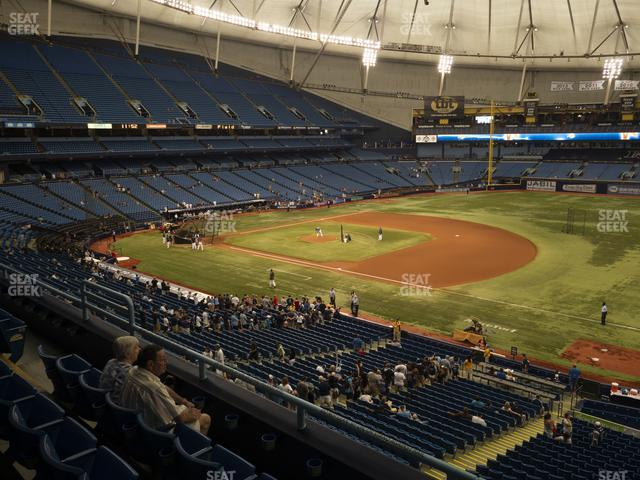 Tropicana Field Section 218 view