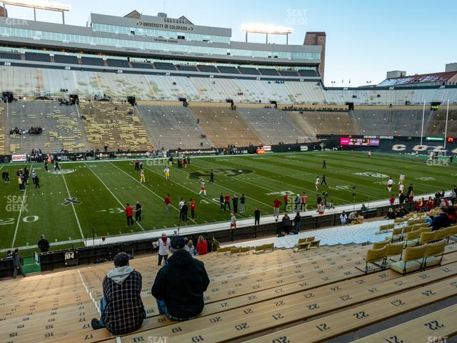 Folsom Field Section 104 view