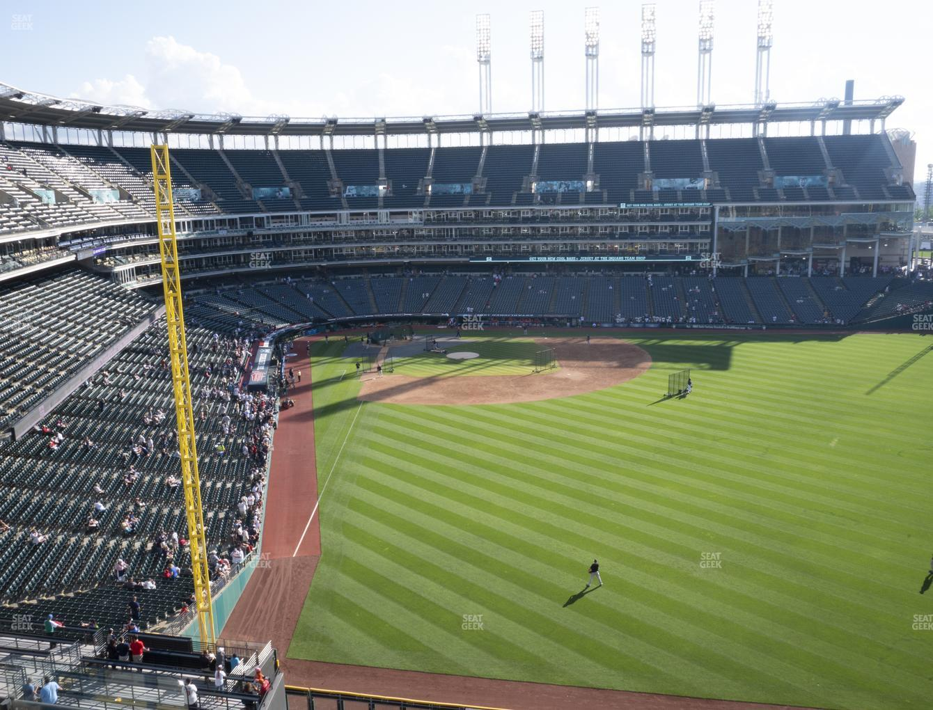 Cleveland Indians at Progressive Field Section 412 View