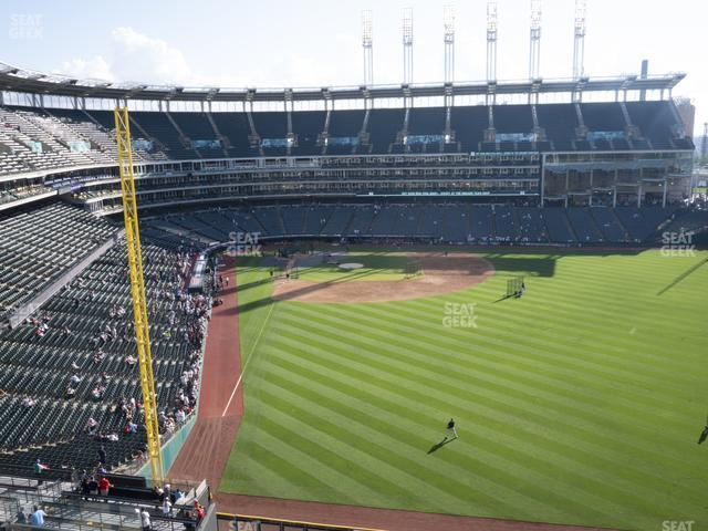 Progressive Field Section 412 view