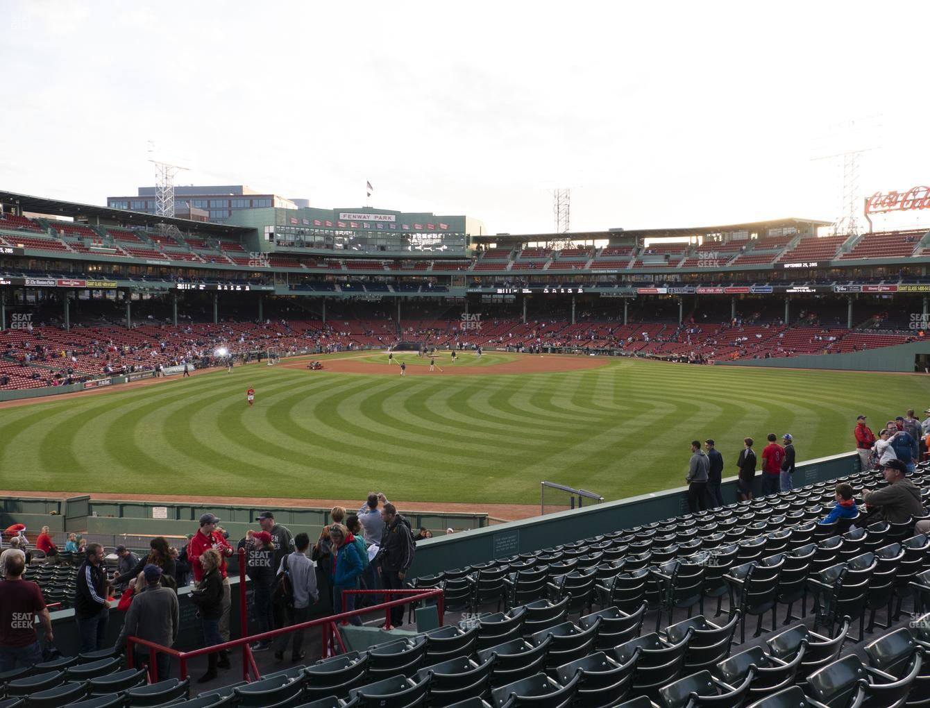 Boston Red Sox at Fenway Park Bleacher 38 View