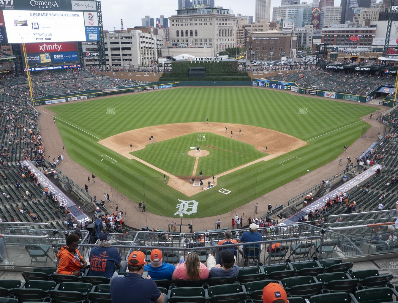 Detroit Tigers at Comerica Park Section 327 View