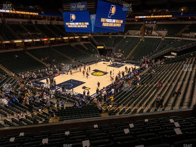Bankers Life Fieldhouse Section 108 view