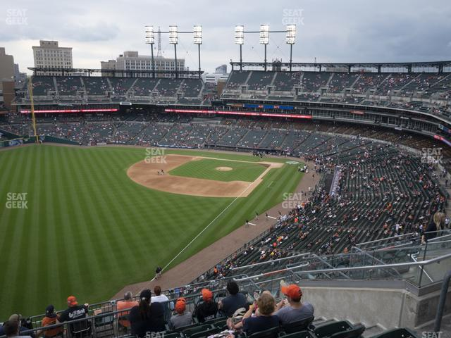 Comerica Park Section 344 view