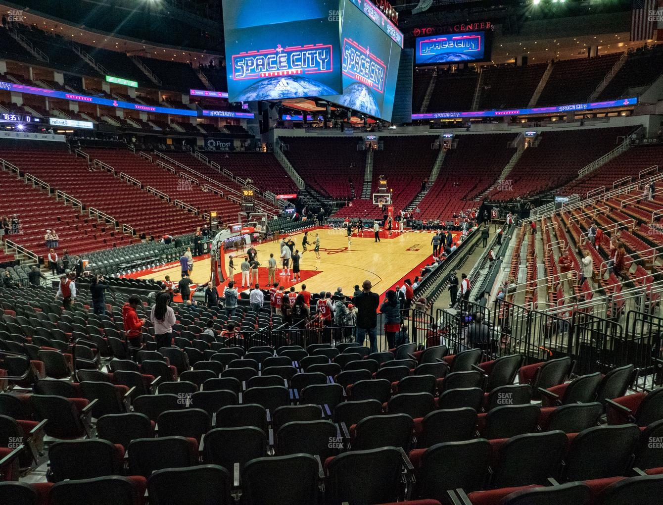 Houston Rockets at Toyota Center Section 112 View