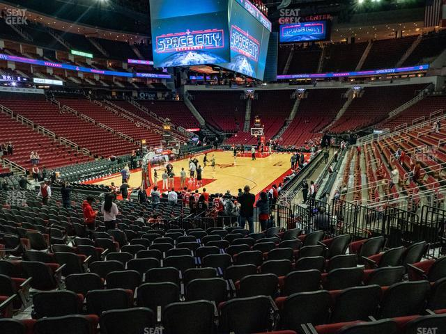 Toyota Center Section 112 view