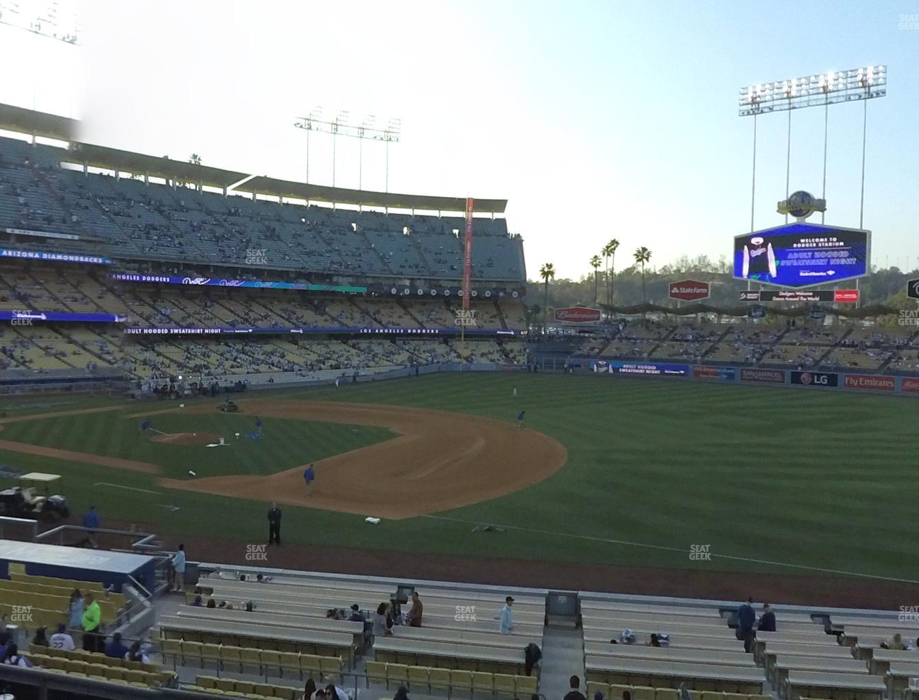 Los Angeles Dodgers at Dodger Stadium Loge Box 144 View