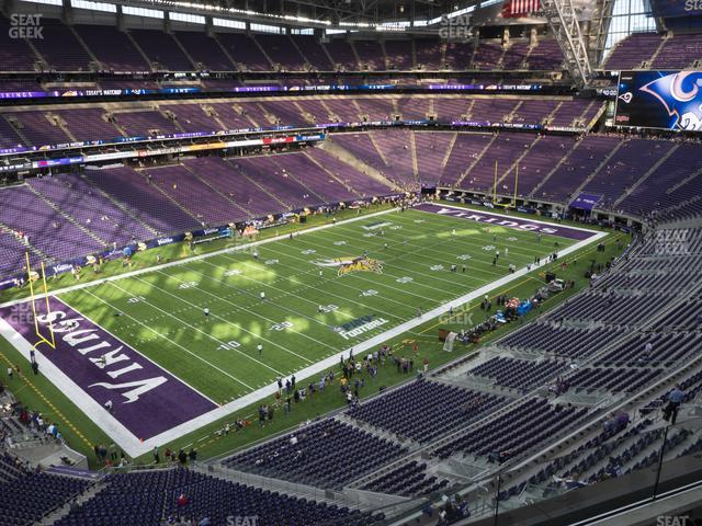 U.S. Bank Stadium Section 348 view