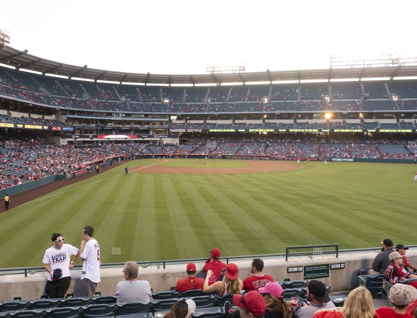 Los Angeles Angels at Angel Stadium of Anaheim Section 236 View