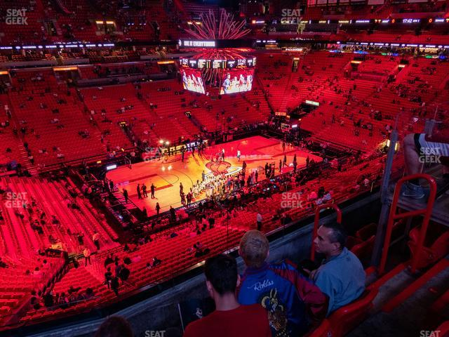 American Airlines Arena Section 311 view
