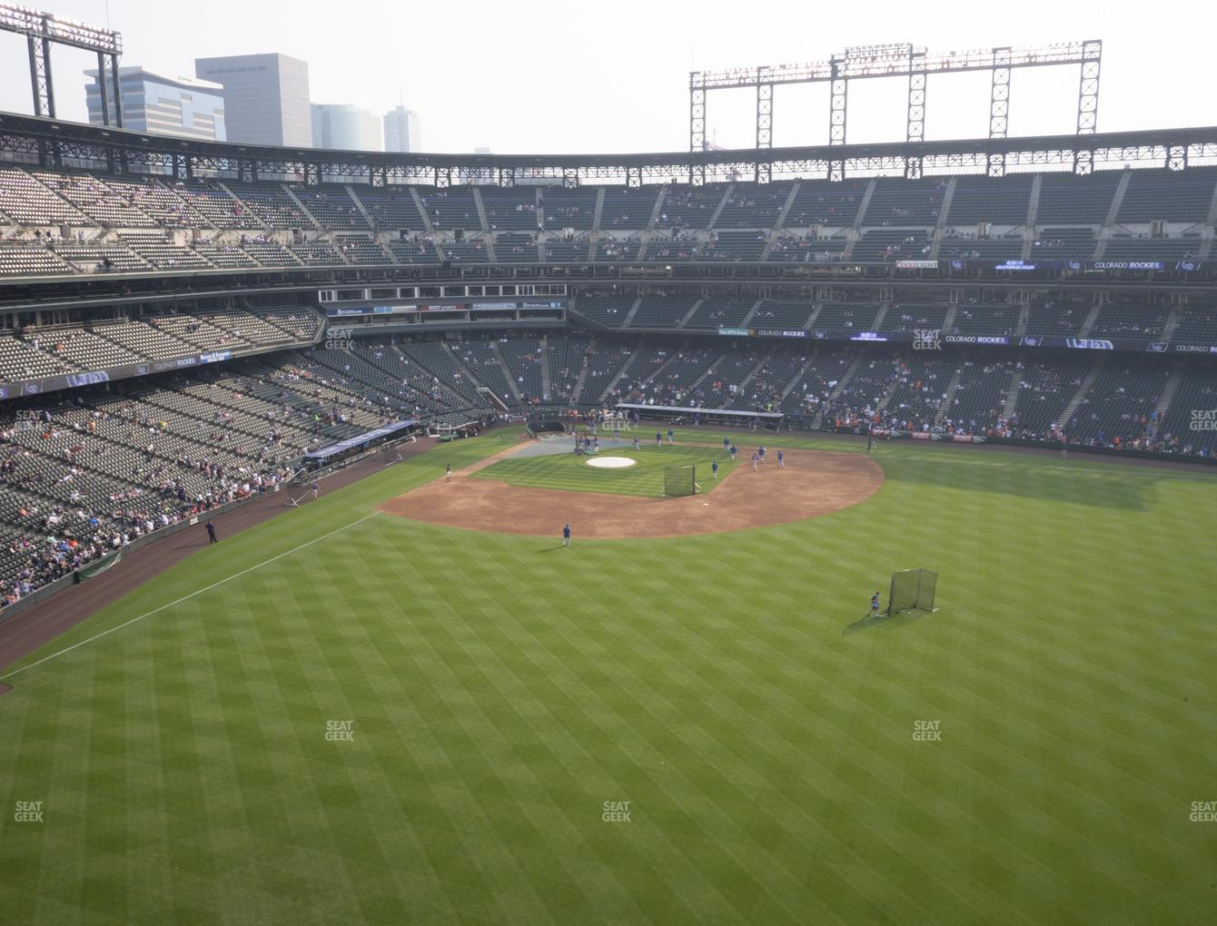 Colorado Rockies at Coors Field Lower 304 View