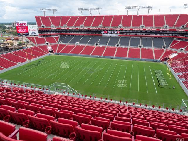 Raymond James Stadium Section 313 view