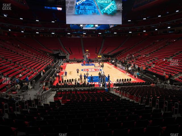 Little Caesars Arena Section 103 view