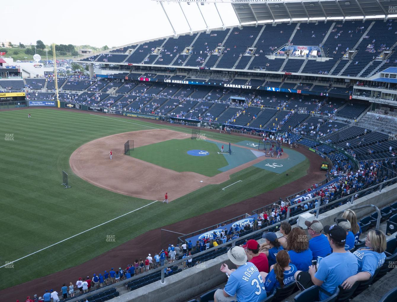 Kansas City Royals at Kauffman Stadium Section 405 View