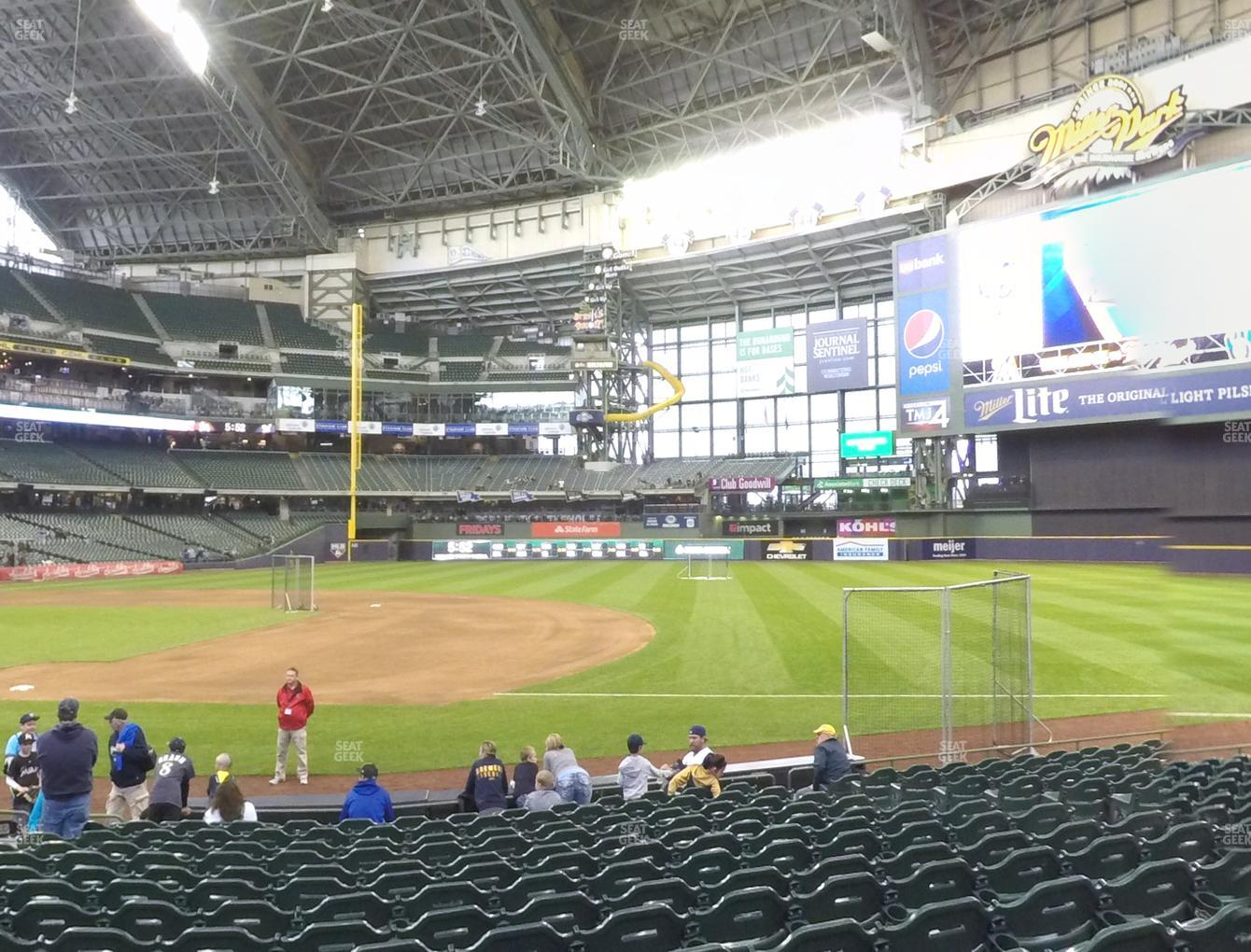 Concert at Miller Park Section 111 View
