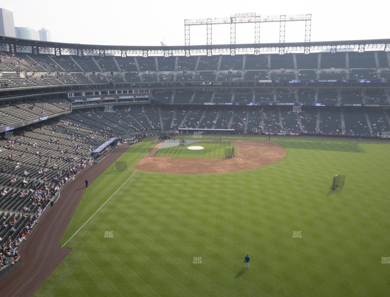 Colorado Rockies at Coors Field Lower 306 View