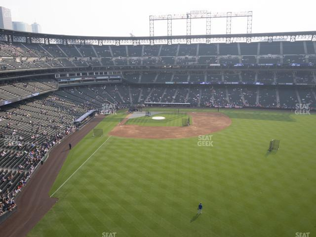 Coors Field Lower 306 view