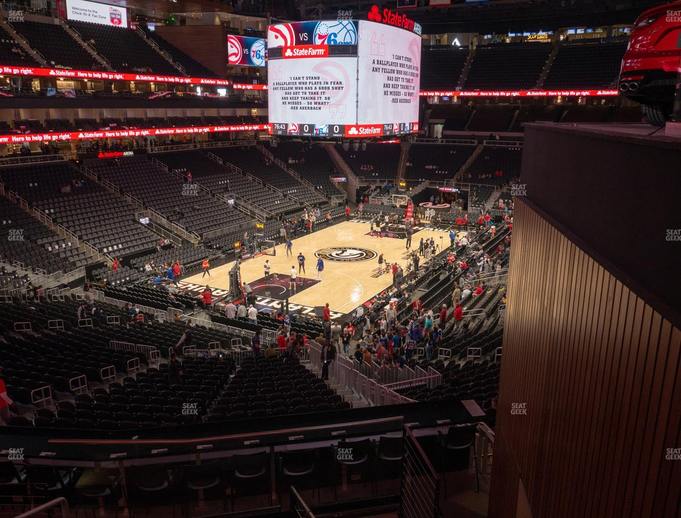 Atlanta Hawks at State Farm Arena Section T 2 View