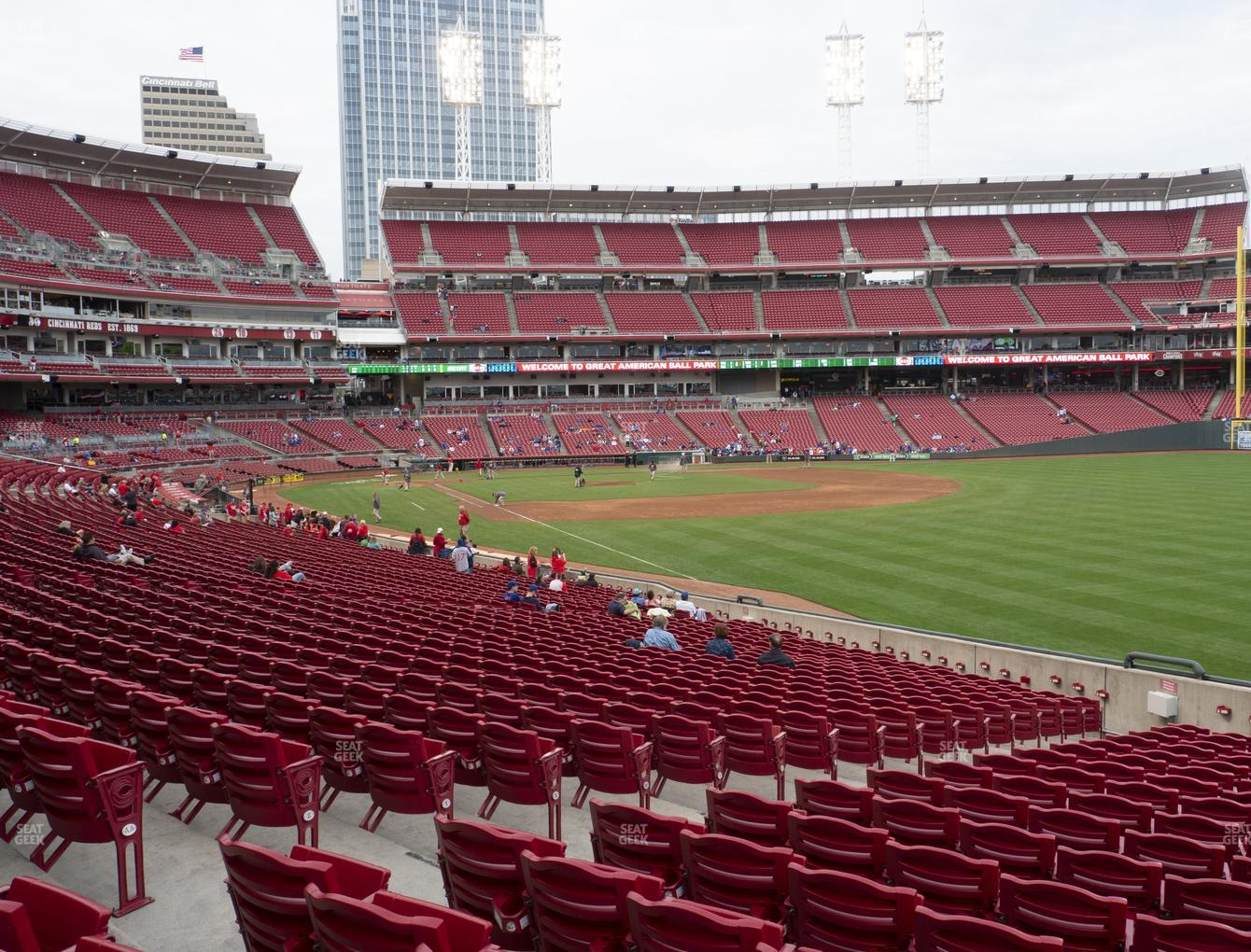 Cincinnati Reds at Great American Ball Park Section 137 View
