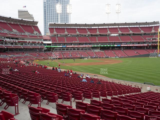 Great American Ball Park Section 137 view