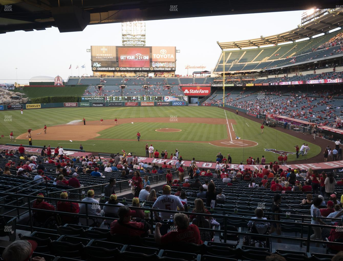Los Angeles Angels at Angel Stadium of Anaheim Section 213 View