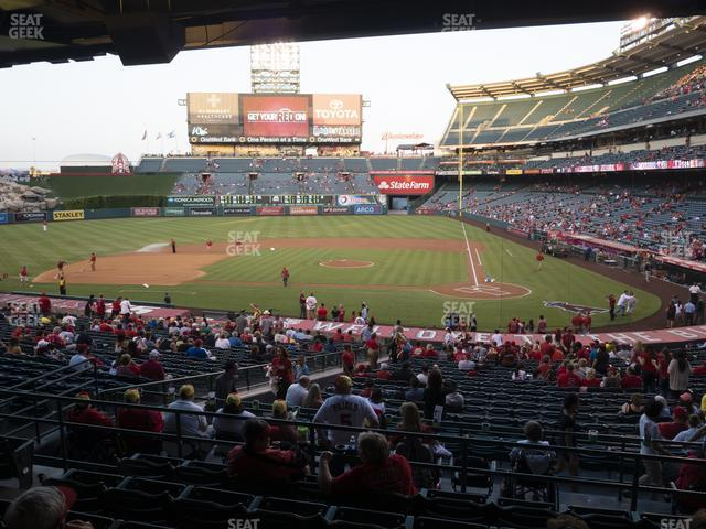 Angel Stadium of Anaheim Section 213 view
