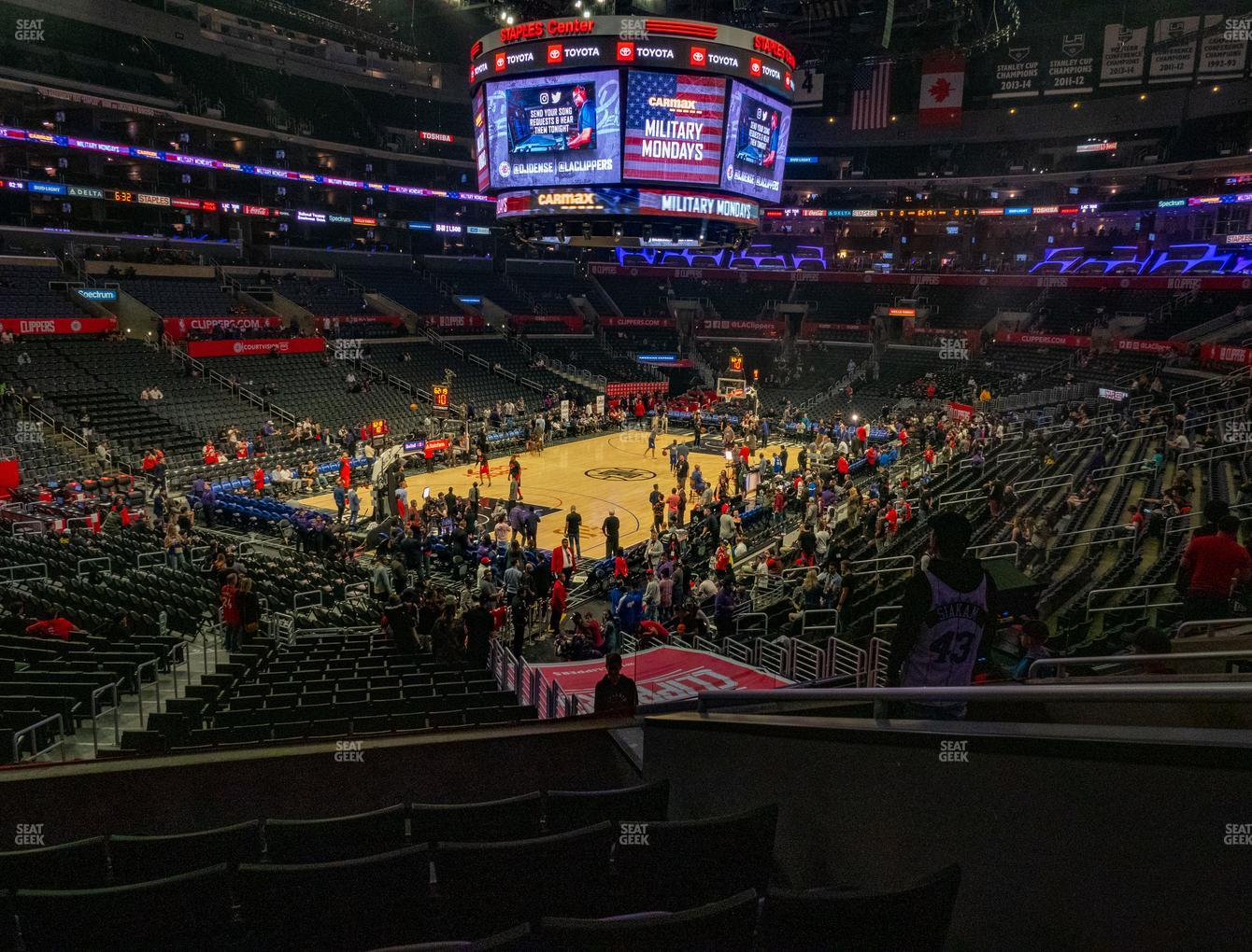 Los Angeles Lakers at Staples Center Section 205 View