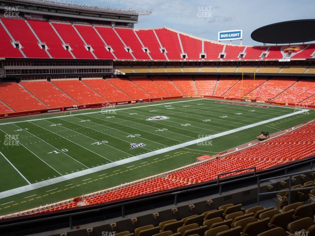 Arrowhead Stadium Section 206 view