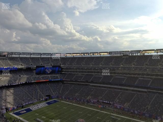 MetLife Stadium Section 309 view