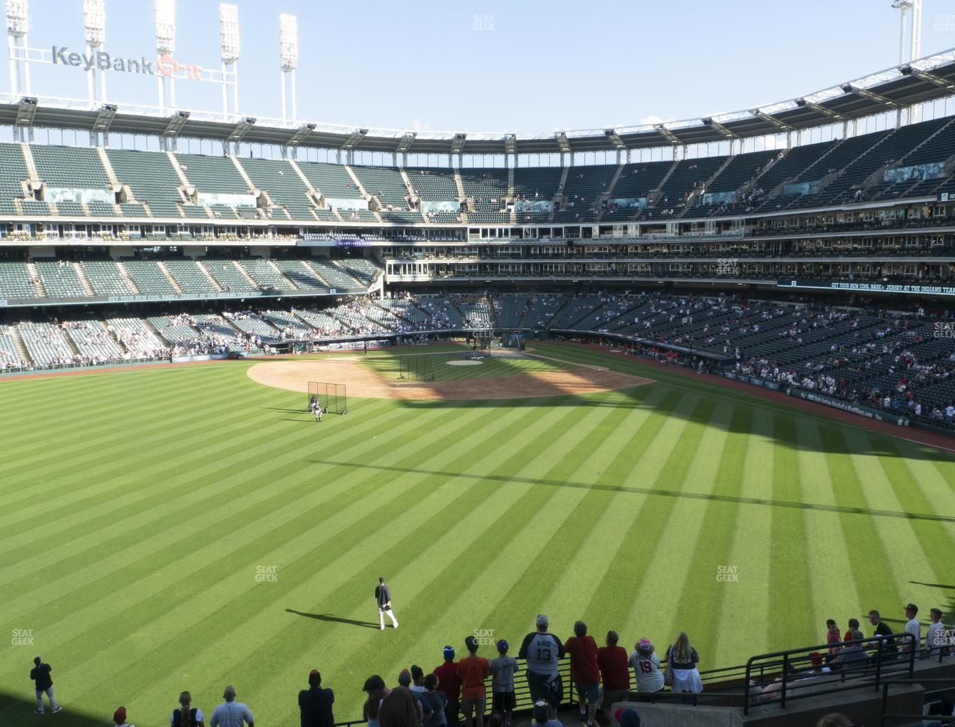 Cleveland Indians at Progressive Field Section 183 View