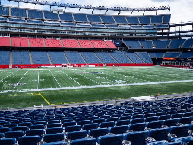 Gillette Stadium Section 133 view