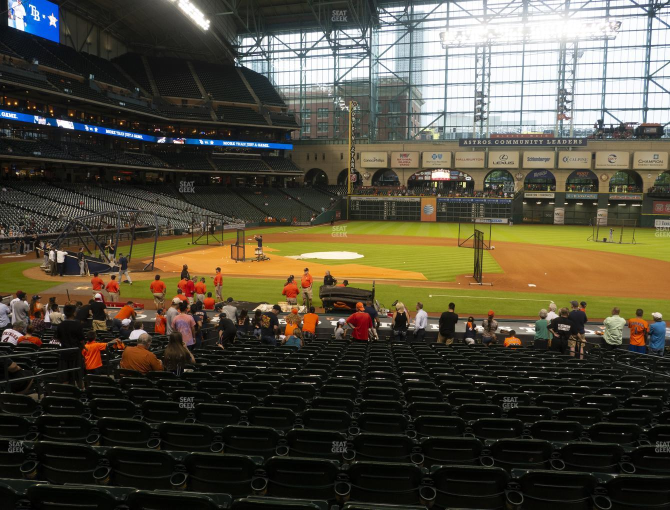 Houston Astros at Minute Maid Park Section 126 View