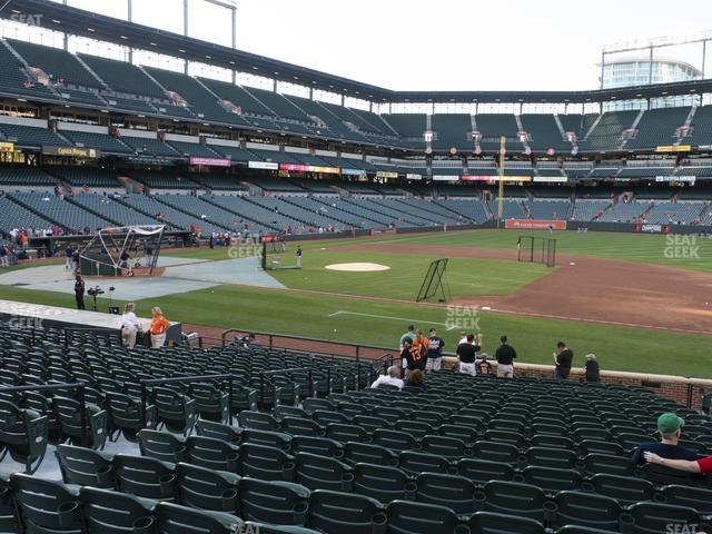 Oriole Park at Camden Yards Section 18 view