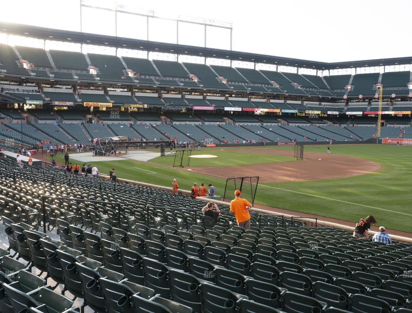Baltimore Orioles at Oriole Park at Camden Yards Section 12 View