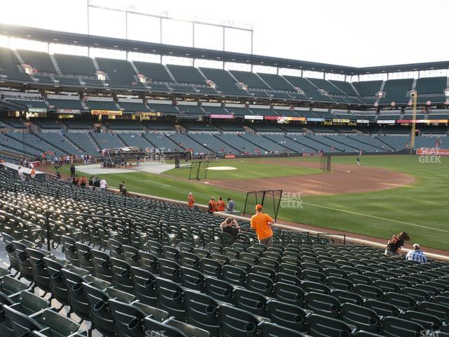 Oriole Park at Camden Yards Section 12 view